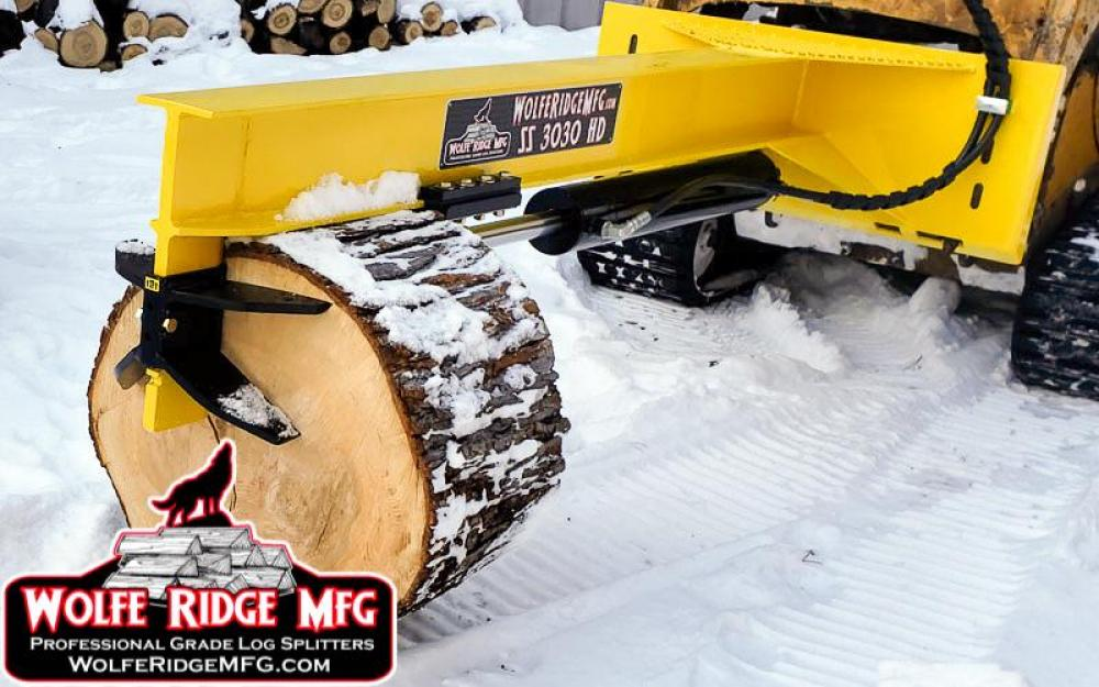 Heavy Duty Inverted Log Splitter for SkidSteer