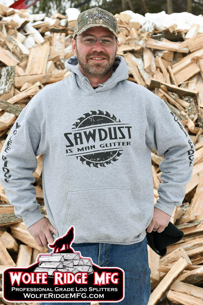 Wolfe Ridge MFG Grey Hooded Sweatshirt